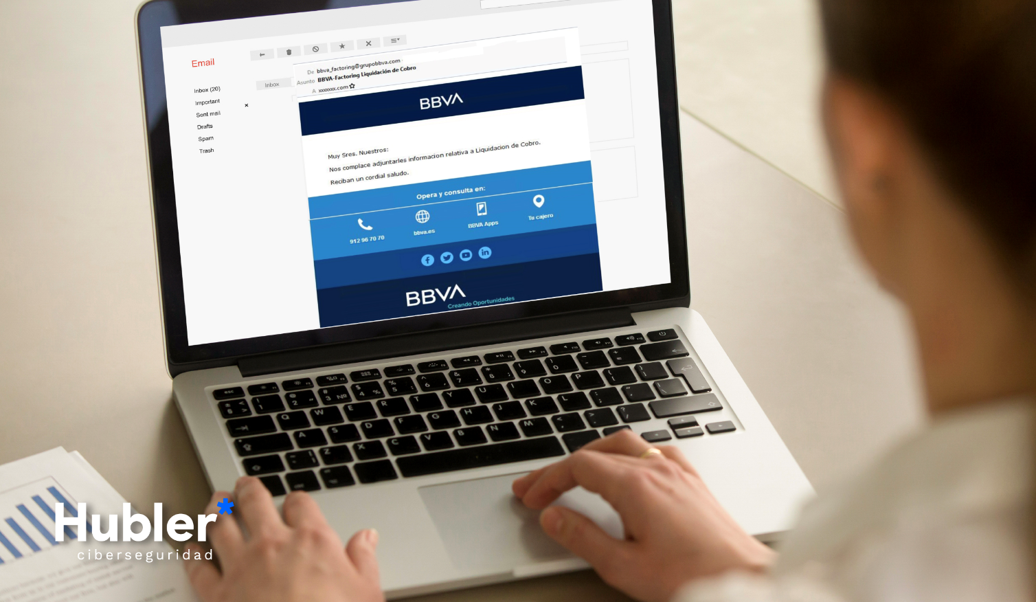Campaña de correos maliciosos suplantando la identidad del Banco Español BBVA